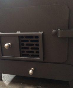 poêle-à-granulés-sans-électricité-10kw-trappe-ouverte