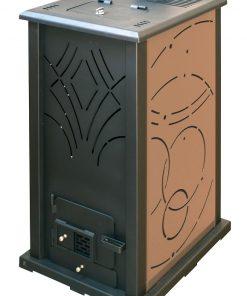 poêle-à-granulés-sans-électricité-chauffage-bois-13-kw-marron